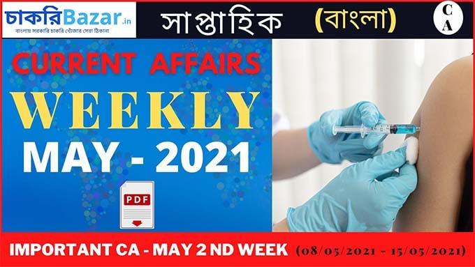 Weekly current Affairs May 2021
